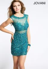Jovani Cocktail 99017.  Available in Peacock
