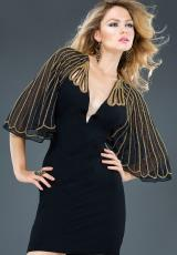 Jovani Cocktail 88586.  Available in Black/Gold