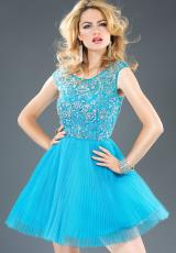 Jovani Cocktail 90039.  Available in Blue, Blush, White