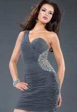 Jovani Cocktail 90359.  Available in Grey, Olive