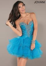 Jovani Cocktail 74080.  Available in Turquoise, White