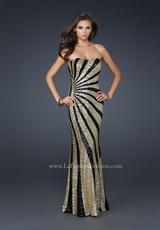La Femme 17456.  Available in Black/White, Gold/Black, White/Gold