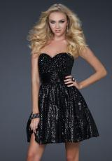 Short 2012 Sequined La Femme Prom Dress 17263