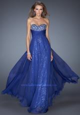 2014 La Femme Fitted Waist Prom Dress 19543