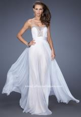 La Femme 20115.  Available in White/Nude