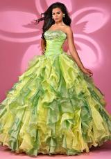 Landa Quinceanera AQ10.  Available in Bright Yellow, Paris Blue, Peony/Pink, Tangerine, Tropical Peach