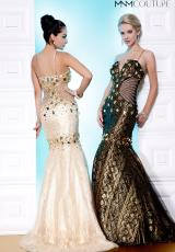 MNM Couture 8111.  Available in Black/Gold, Black/Silver, Gold