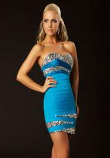 Fitted 2012 MacDuggal Homecoming Dress 61159T