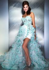 2013 MacDuggal White Prom Dress 6357M