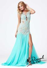 MacDuggal 61041R.  Available in Aqua/Nude, Black/Nude, Blush/Ivory, Ivory/Nude, Red/Nude, Sapphire