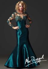 MacDuggal 61391R.  Available in Black/Nude, Peacock , Platinum, Red/Nude