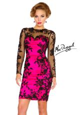 MacDuggal Cocktail 61410R.  Available in Fuchsia/Black, White/Black