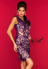 MacDuggal Cocktail 61431R.  Available in Emerald/Nude, Ivory/Nude, Purple/Nude, Red/Nude, Smoke/Nude