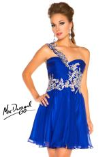 2013 MacDuggal Cocktail Short Flowy Dress 64589N