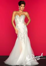 MacDuggal 81901R.  Available in Ivory/Nude, Red/Nude