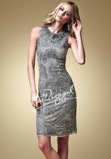 MacDuggal Cocktail 1633D.  Available in Platinum