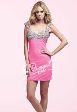 MacDuggal Cocktail 40346N.  Available in Barbie Pink