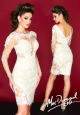 MacDuggal Cocktail 61555R.  Available in Ivory/Nude, Red/Nude, Sapphire/Nude