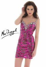 2013 MacDuggal Cocktail Fitted Print Dress 81940T
