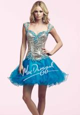 2014 MacDuggal Homecoming Collection Sequins Top Dress 82095N