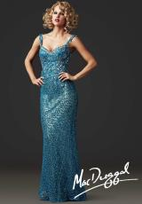 MacDuggal Couture 78709D.  Available in Blue Platinum, Nude/Silver