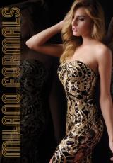 Milano Formals E1803.  Available in Black/Gold