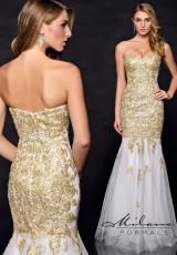 Milano Formals E1738.  Available in White/Gold