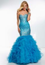 Mori Lee 2014 Ruffled Skirt Prom Dress 95011