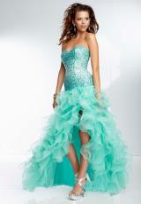 Mori Lee 2014 Beaded High Low Prom Dress 95091