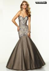 Mori Lee 97096.  Available in Black/Nude, Navy