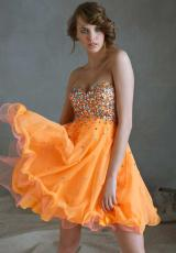 Mori Lee Sticks & Stones 9243.  Available in Neon Orange, White