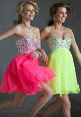 Mori Lee Sticks and Stones 9245.  Available in Neon Lime, Neon Pink