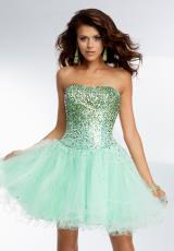 Mori Lee Sticks & Stones 9253.  Available in Blush, Mint