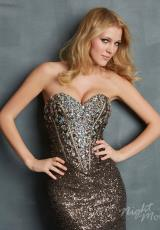 2014 Night Moves Form Fitting Prom Dress 7021
