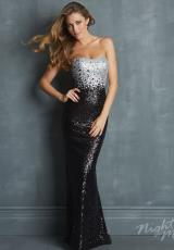 2014 Night Moves Black Prom Dress 7026
