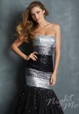 2014 Night Moves Black Prom Dress 7030