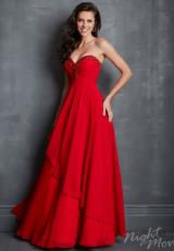 2014 Night Moves Ruched Top Prom Dress 7044
