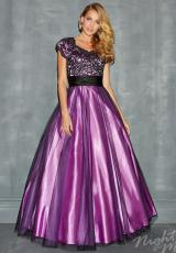 2014 Night Moves Lace Bodice Prom Dress 7170M