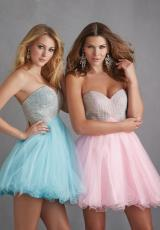 2014 Night Moves Tulle Skirt Prom Dress 7208
