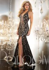Panoply 14632.  Available in Black/Nude, Red/Nude