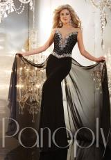 2014 Panoply Sheer Sleeves Prom Dress 14641