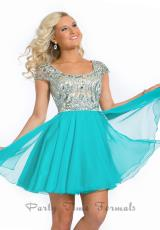Party Time Formals 6303.  Available in Aqua Marine, Coral