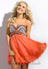 Party Time Formals 6313.  Available in Coral, Royal