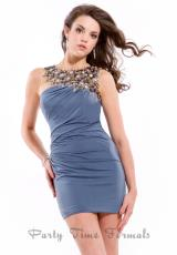 Party Time Formals 6326.  Available in Cool Grey, White