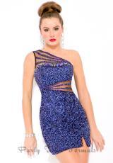 Party Time Formals 6340.  Available in Midnight, Smoke Gold