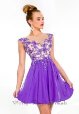 Party Time Formals 6344.  Available in Purple/Nude, Watermelon/Nude
