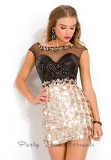 Party Time Formals 6360.  Available in Black/Aqua Marine, Black/Champagne