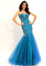 2013 Party Time Beaded Silhouette Gown 6028