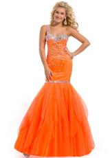 Party Time Dresses 6143.  Available in Neon Orange, Watermelon
