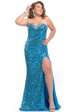 2013 Party Time Fitted Gown 6260